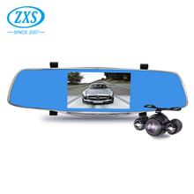 Dual lens recording hd 1080p rearview mirror cam