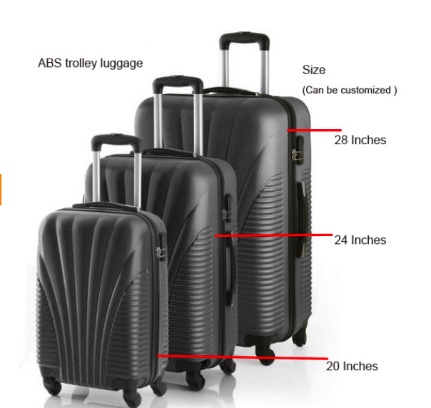 2016 Hot Selling abs 4 Wheel Trolley Case