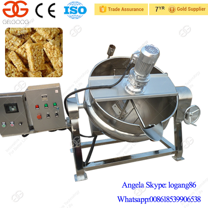 Automatic Cereal Bar Production Line Peanut Candy Maker Nougat Moulding Cutting Sesame Bar Making Machine