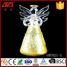 ISO9001 handmade christmas stained glass angel with star