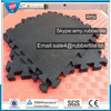 interlocking rubber floor tile anti slip rubber gym mat