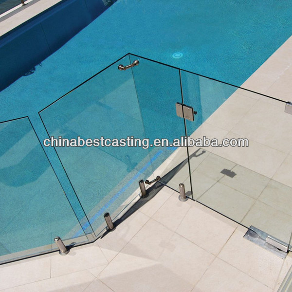 Stainless steel pool fence spigot/glass clamp
