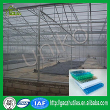 2015 new design high grade uv-protected 4mm twin wall polycarbonate clear lexan sheet greenhouse made in China