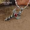 Newest design titanium steel zircon snake shape pendant fashion jewelry necklace