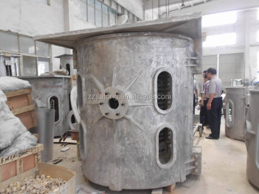 500kg Load Capacity Cast Iron Al Induction Melting Furnace for Aluminum Scrap Melting Price