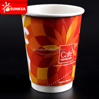 Disposable funny floral large paper tea cup