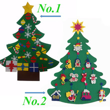 2017 Amazon bet seller festival gift wool felt ornaments artificial christmas tree craft christmas decoration in stock