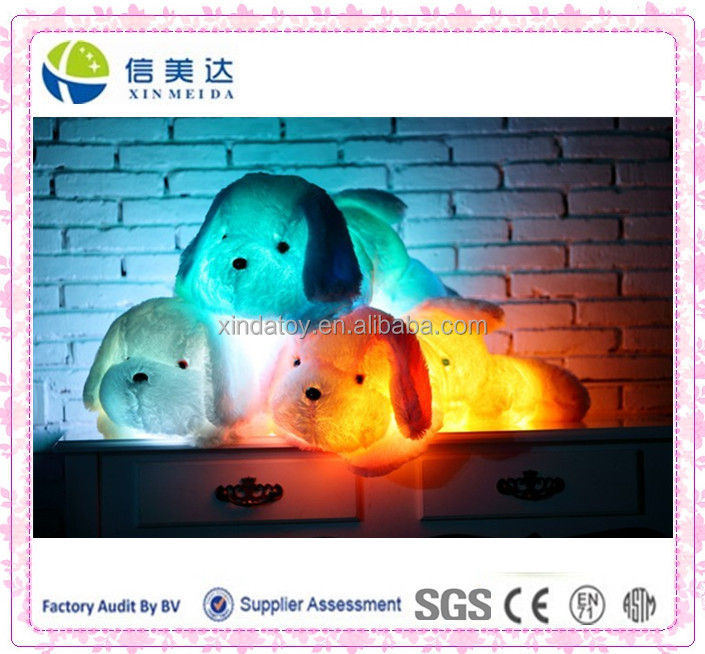 Plush LED dog baby toy