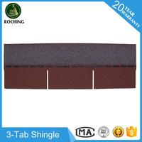 Wholesale 3-Tab red roofing shingles,roof sheet made in China