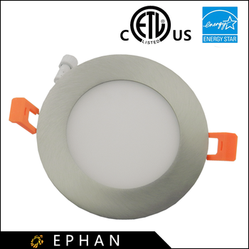 Ephan ETL Certified Brushed Nickle Led Panel Light Dimmable