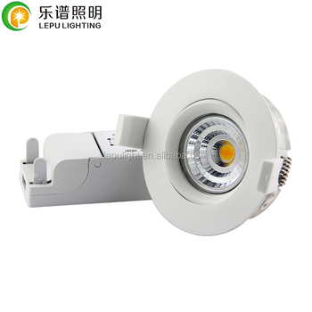 RA92 anti-glare lens cob led gyro downlight with actec driver 5years warranty