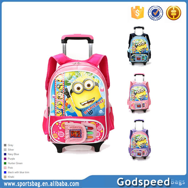 wholesale school lovely girl picture trolley school bags