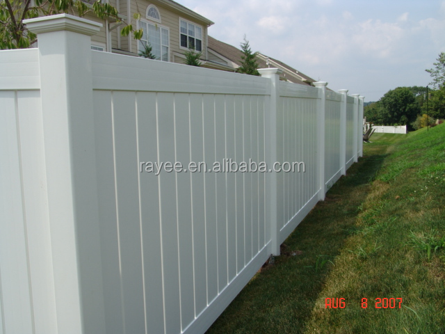 used vinyl fence for sale, 4'x10' cheap vinyl fence panels/ PVC valla de jardin/valla de estacas