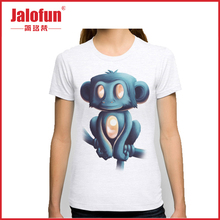 Promotion 65% cotton 35% polyester paid samples girls printed t shirts