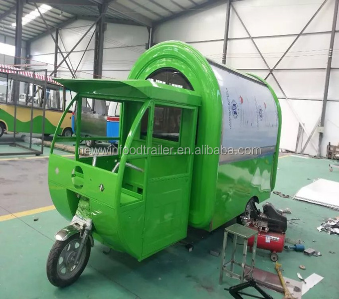 Hot sale crepe fast food electric tricycle food cart