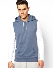 Loungewear boys blank sleeveless sweatshirt hoody