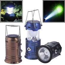2017 rechargeable lithium battery 6pcs led solar emergency lantern for indoor and outdoor lighting