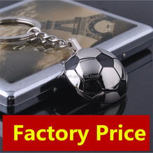 Alloy Metal Sport Casual Half Football Keychain Keyring