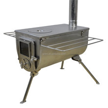 New design 2018 factory directly cooking and heating wood tent stove