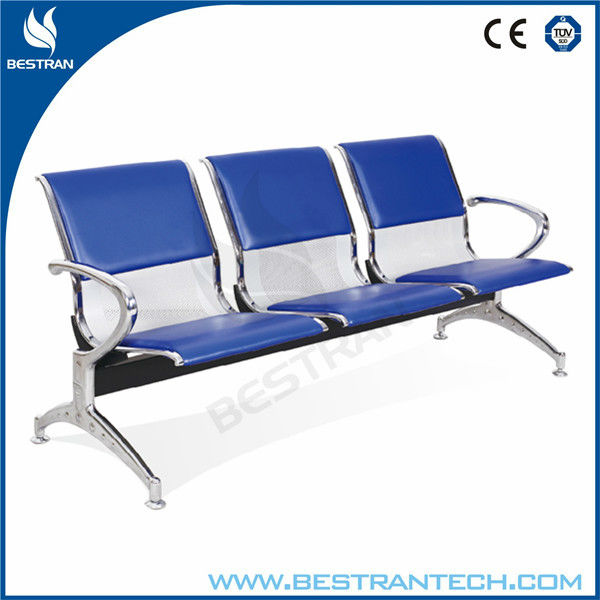 BT-ZC002 3 seater Anti-rust steel medical office waiting room chairs