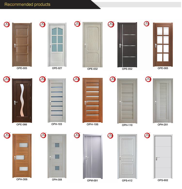 Hot Selling Competitive Price Interior Apartment Swing Wooden Door Frames Designs