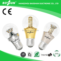 Long Lifespan 30000hrs OEM E27 Lamp Holder 5.5W 8W 9.8W clear candle light bulb