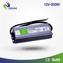 200w 24v IP67 led driver AC to DC waterproof power supply for outdoor led light bar