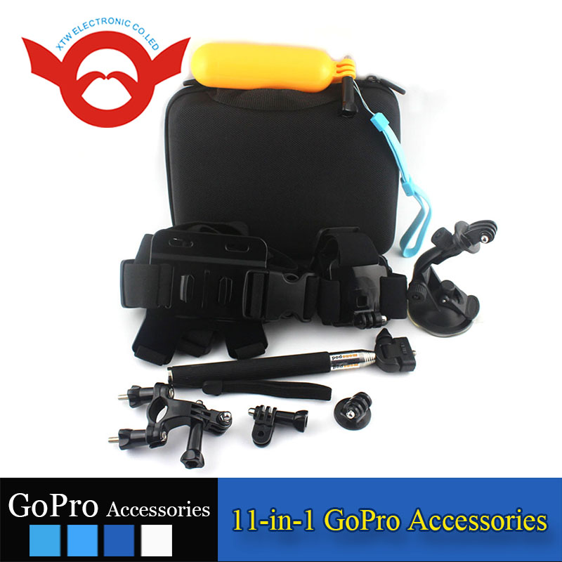 Wholesale Factory Price 11-in-1 GoPro outdoor camera accessories kit extreme sport X Game Camera Accessories