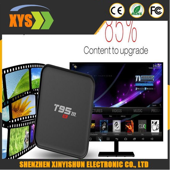 New Arrival T95M TV Box Amlogic S905 Quad Core 64Bit Android 5.1 1GB 8GB DDR3 Set Top Box 4K HD 2.4GHz WiFi Media Player