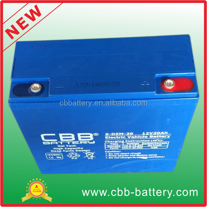 factory price motive deep cycle electric bike battery 6-DZM-20