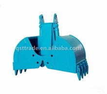 Customized Factory Price China excavator grab clamshell bucket, rotary clamshell and non-rotary clamshell bucket