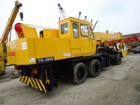 Sufficient stock of used Tadano truck crane 25 ton, TG250E, located in Shanghai