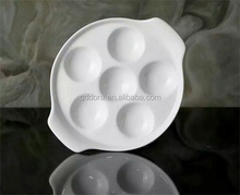 China supplier factory direct 2016 Porcelain egg tray, ceramic egg plates hotel porcelain dinner ware