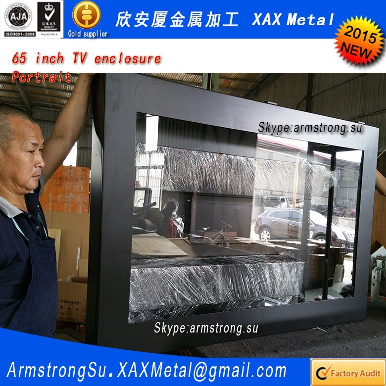 XAX180TVE outdoor out door water proof waterproof stainless steel touch screen kiosk television enclosure