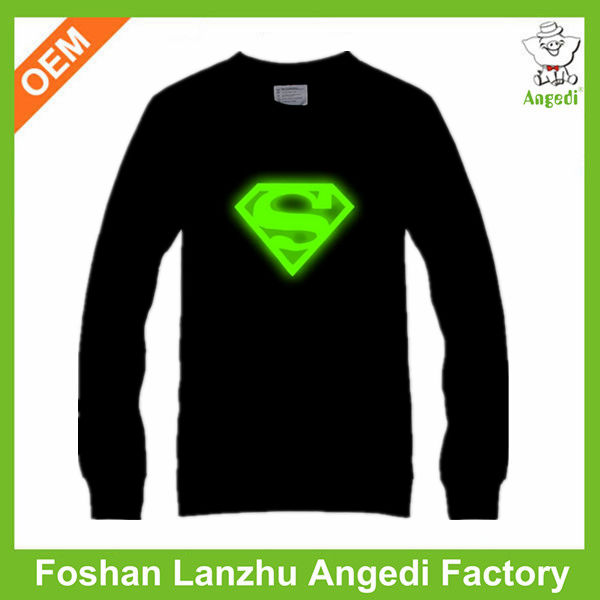 Hot sale appealing led flashing t-shirts for 11-14 years