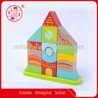 Building tower wooden wholesale toy from China