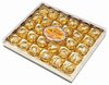 Tasty chocolate compound with peanut wafer candy ball in galaxy square box 30PCS G-015