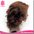 pussy sexy human hair u part wig short brown body wave lace part wigs