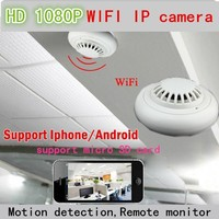 CCTV IP Hidden Camera Wifi Wireless Smoke Detector P2P remote view with Internet Access HD1080p Mobile phone monitor recorder