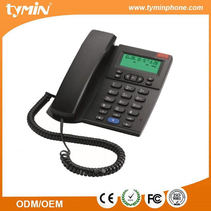 New Arrival Corded Phone with Speakerphone and Caller ID/Call Waiting, Black