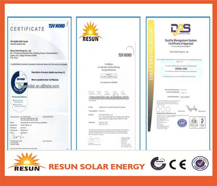 270w solar modules pv panel with TUV certificate