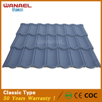 Wanael Classic villa environment friendly stone coated metal tile artificial thatch roofing material