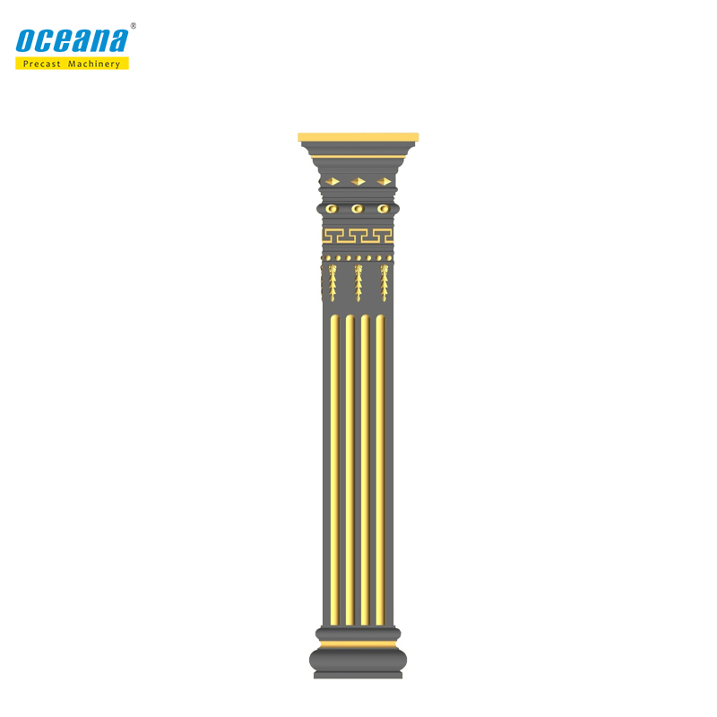 Factory direct sale high quality plastic round roman column pillar <strong>mold</strong> for decoration