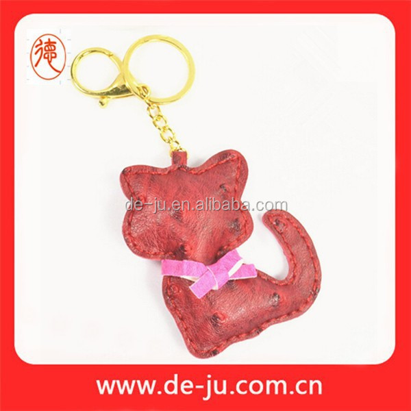 Promotion Gift Bag Decoration Red Cute Cat Rubber Key Chain