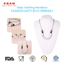latest design beads necklace fashion jewelry made in china wholesale silicone teething necklace
