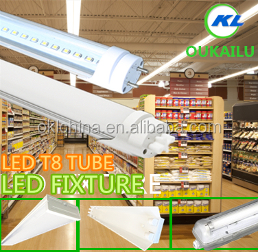 China led lighting DLC,UL,cUL Best Safety led bulb light PC+AL tube led 4feet 15W 18W 22W