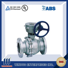 "12"" gear operated stainless steel ball valve"
