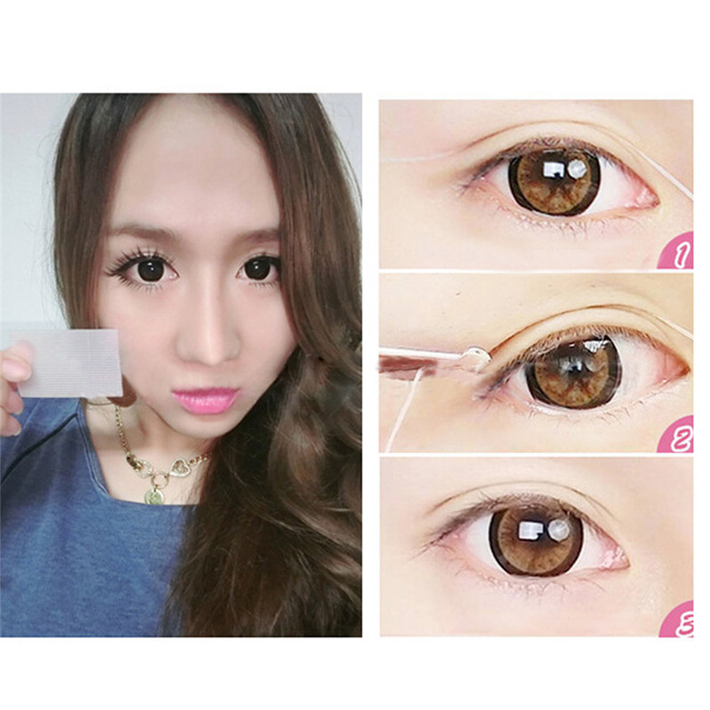 12pairs Lace Invisible Double Eyelid Past Tape Trial Stiker Eye lid Girls Women Lady Cosmetic Makeup Beauty Eyelid Past Tool