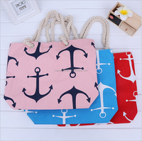 New arrival Customized size canvas shopping bag beach bag shoulder bag for travel/hiking