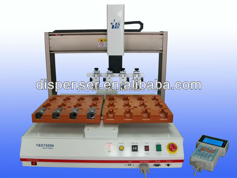 Desktop multi spots silicon dispensing machine